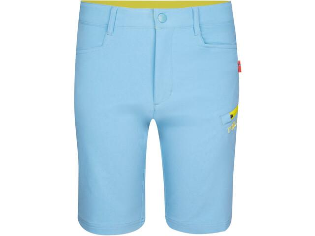 TROLLKIDS Haugesund Shorts Kids dolphin blue/lime